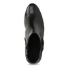 Černé kožené kotníčkové kozačky s mašlí gabor, černá, 614-6005 - 17