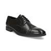 Pánské černé kožené Derby polobotky bata, černá, 824-6891 - 13