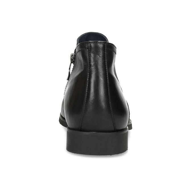 Kožená kotníčková pánská obuv s prošitím bata, černá, 824-6621 - 15