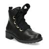 Kožená kotníčková dětská obuv mini-b, černá, 424-6600 - 13