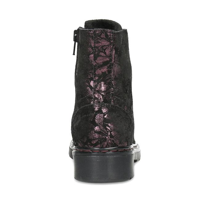 Kotníčková kožená dětská obuv se vzorem mini-b, hnědá, 426-4560 - 15