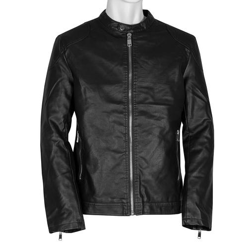 Černá pánská bunda se stříbrnými zipy bata, hnědá, 971-4221 - 13