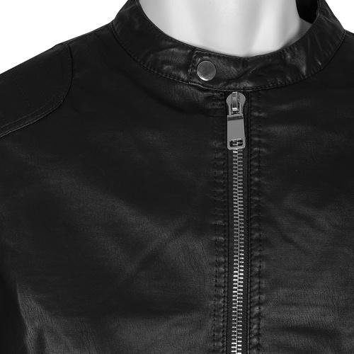 Černá pánská bunda se stříbrnými zipy bata, hnědá, 971-4221 - 16