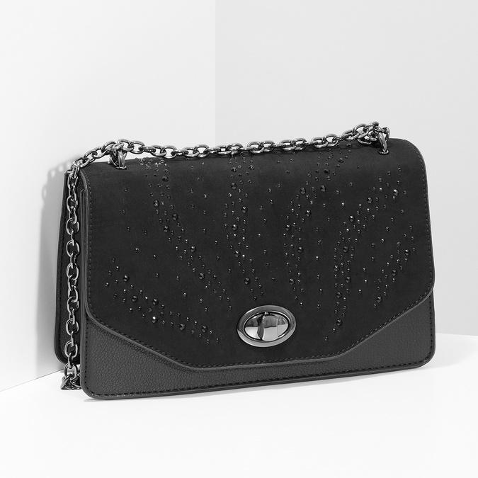 Dámská černá Crossbody kabelka bata, černá, 969-6874 - 17