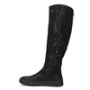 Dámské černé kozačky s výrazným zipem bata, černá, 691-6636 - 17