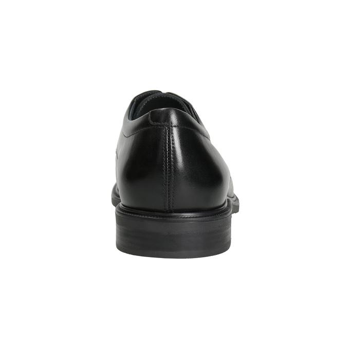 Kožené pánské polobotky s rovnou špicí climatec, černá, 824-6660 - 15