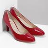 Kožené lakované červené lodičky hogl, červená, 728-6091 - 26