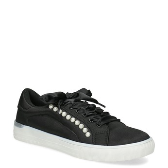 Černé dámské tenisky s perličkami north-star, černá, 529-6641 - 13