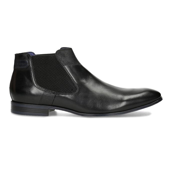 Černá kožená kotníčková obuv bugatti, černá, 814-6013 - 19
