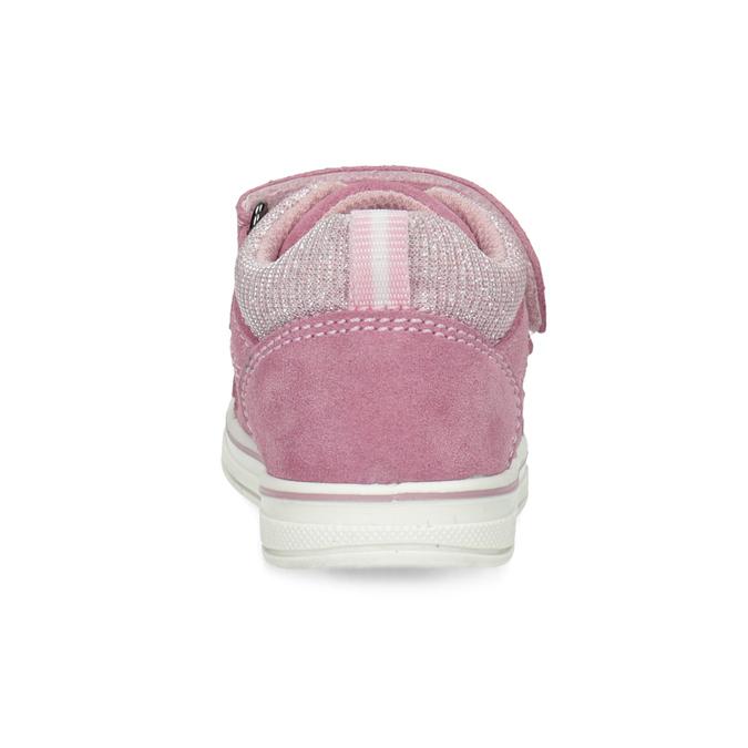 Růžové dětské kožené tenisky bubblegummers, růžová, 123-5611 - 15
