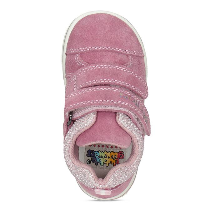 Růžové dětské kožené tenisky bubblegummers, růžová, 123-5611 - 17