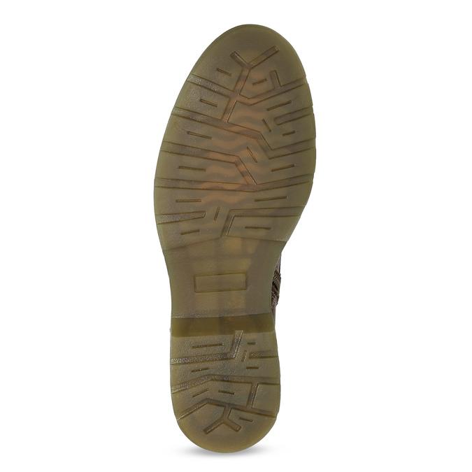 Hnědá kožená dámská kotníčková obuv bata, hnědá, 596-4732 - 18