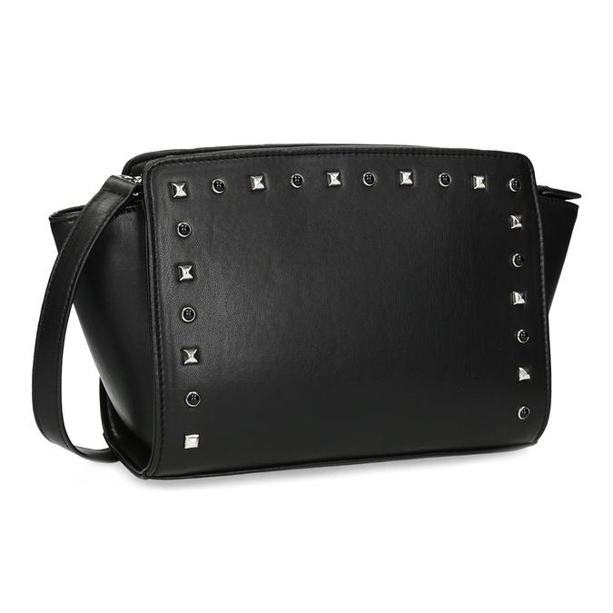 Crossbody kabelka s kovovými cvoky bata, černá, 961-6915 - 13