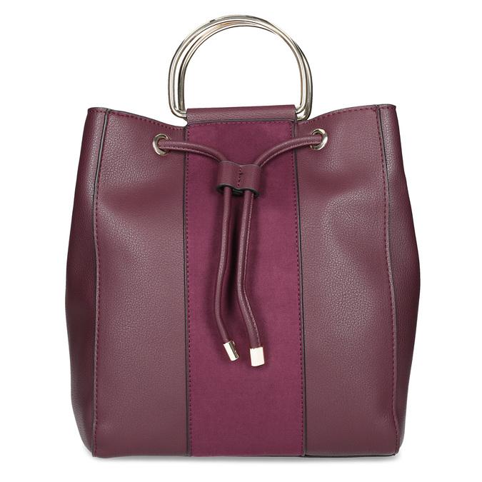 Dámská kabelka ve stylu Bucket bata, červená, 961-5890 - 26