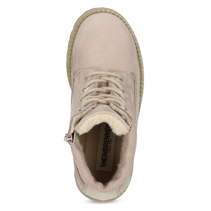 Růžová kožená kotníčková obuv weinbrenner-junior, růžová, 326-5608 - 17