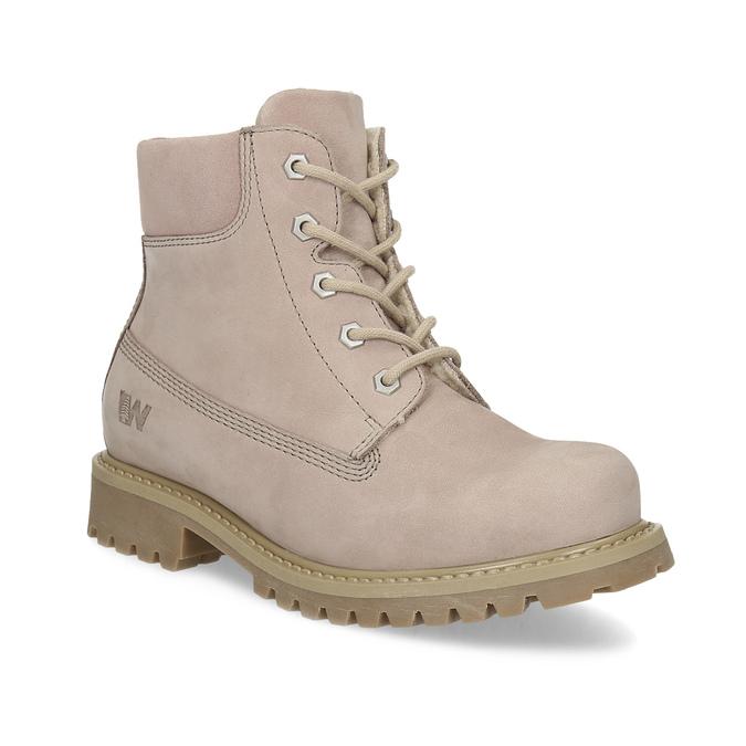Růžová kožená kotníčková obuv weinbrenner-junior, růžová, 326-5608 - 13