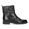 Černá kožená kotníčková obuv s kovovými cvoky bata, černá, 594-6671 - 19