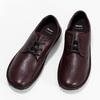 Vínové ležérní dámské kožené polobotky bata, červená, 526-5665 - 16