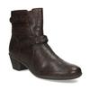 Hnědá kožená obuv s prošitím gabor, hnědá, 616-4123 - 13