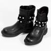 Dívčí kozačky s perličkami zateplené mini-b, černá, 291-6111 - 16