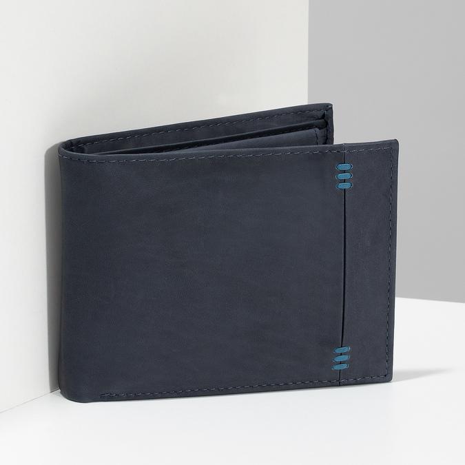 Kožená pánská peněženka bata, modrá, 944-9188 - 17