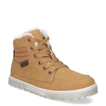 Kotníčková dětská obuv se zateplením mini-b, žlutá, 491-8652 - 13