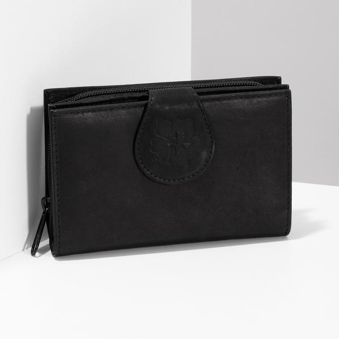 Dámská kožená peněženka bata, černá, 944-6155 - 17