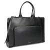 Černá kožená kabelka vhodná na dokumenty royal-republiq, černá, 964-6092 - 13