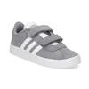 Šedé dětské tenisky z broušené kůže adidas, šedá, 103-2203 - 13