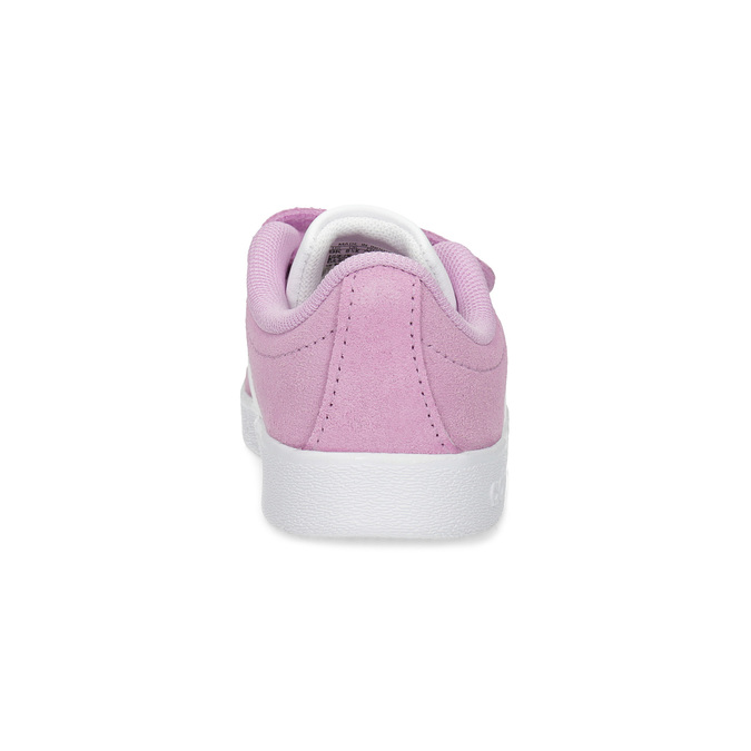 Růžové kožené dětské tenisky adidas, růžová, 103-5203 - 15