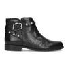 Kožená kotníčková obuv s kovovými cvoky bata, černá, 594-6668 - 19