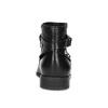Kožená kotníčková obuv s kovovými cvoky bata, černá, 594-6668 - 15