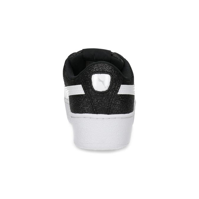 Dětské třpytivé tenisky na flatformě černé puma, stříbrná, 401-6392 - 15