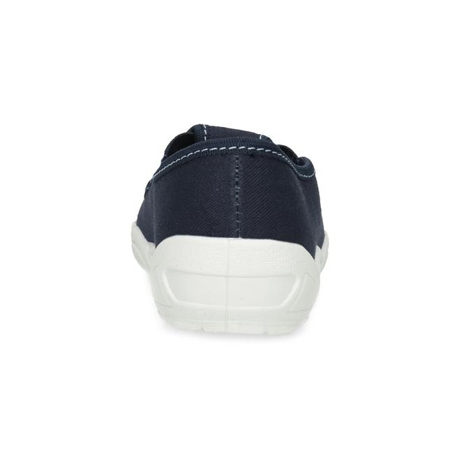 Dětská domácí obuv s motivem rakety mini-b, modrá, 379-9219 - 15