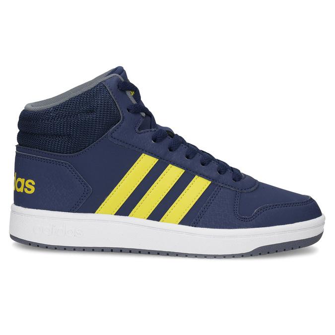 Dětské modro-žluté kotníčkové tenisky adidas, modrá, 401-9345 - 19