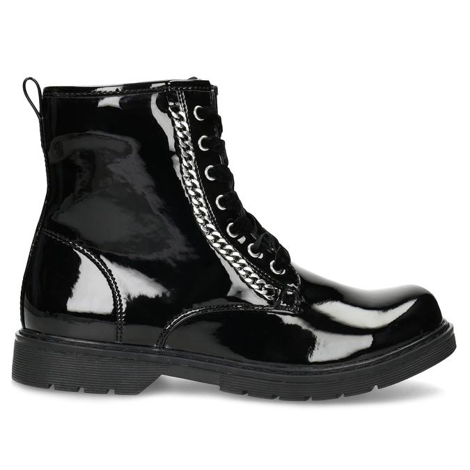 Zimní lesklá kotníčková obuv dívčí mini-b, černá, 391-6170 - 19