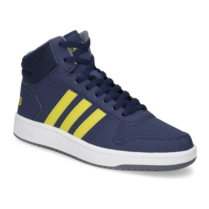 Dětské modro-žluté kotníčkové tenisky adidas, modrá, 401-9345 - 13