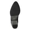 Dámská kožená kotníčková obuv s pružením bata, černá, 596-6969 - 18