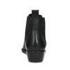 Dámská kožená kotníčková obuv s pružením bata, černá, 596-6969 - 15