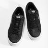 Dětské třpytivé tenisky na flatformě černé puma, stříbrná, 401-6392 - 16