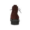 Vínová kožená kotníčková obuv gabor, červená, 623-5029 - 15