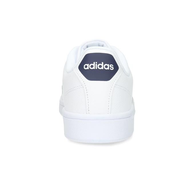 Pánské bílé ležérní tenisky adidas, bílá, modrá, 801-9378 - 15