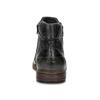 Pánská kotníčková obuv se zipem černá bugatti, černá, 816-6026 - 15