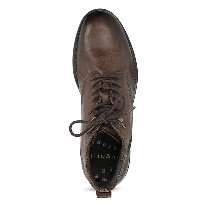 Kotníčková obuv s vázáním pánská bugatti, hnědá, 826-4056 - 17