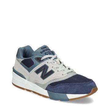 Pánské tenisky z broušené kůže new-balance, modrá, 803-9171 - 13