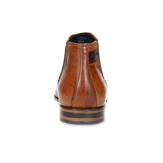Hnědá pánská kožená Chelsea obuv bugatti, hnědá, 816-3014 - 15