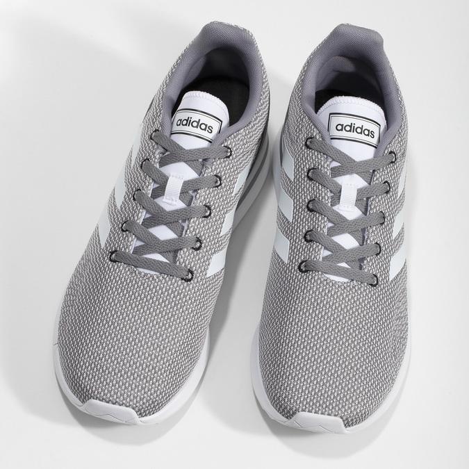 Pánské šedé tenisky s bílými detaily adidas, šedá, 809-2163 - 16