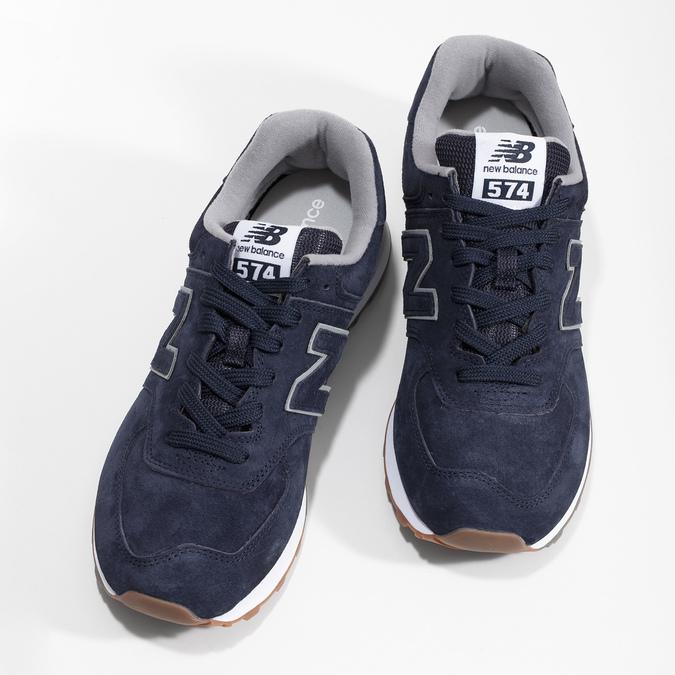 Modré pánské tenisky s šedými detaily new-balance, modrá, 803-9175 - 16
