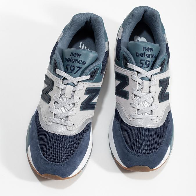 Pánské tenisky z broušené kůže new-balance, modrá, 803-9171 - 16