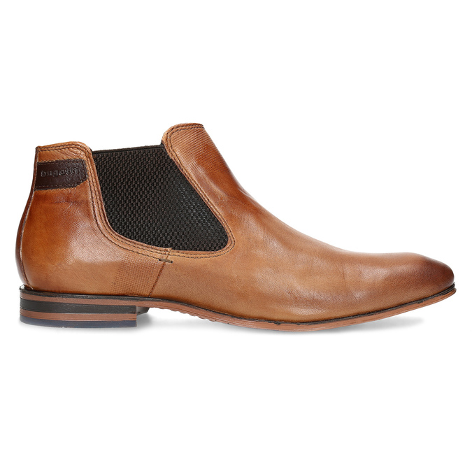 Hnědá pánská kožená Chelsea obuv bugatti, hnědá, 816-3014 - 19